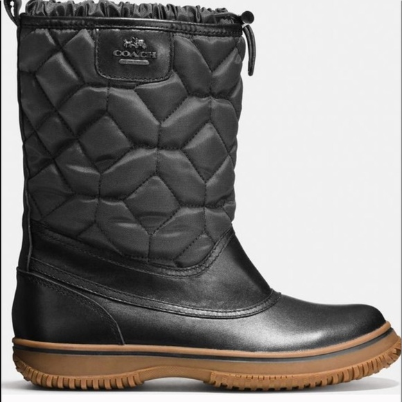 Coach Womens Sparrow Faux Fur Lined Nylon Boot 8